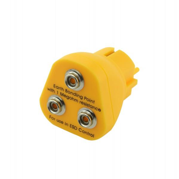 ESD Erdungsstecker 3 x 10 mm Druckknopf