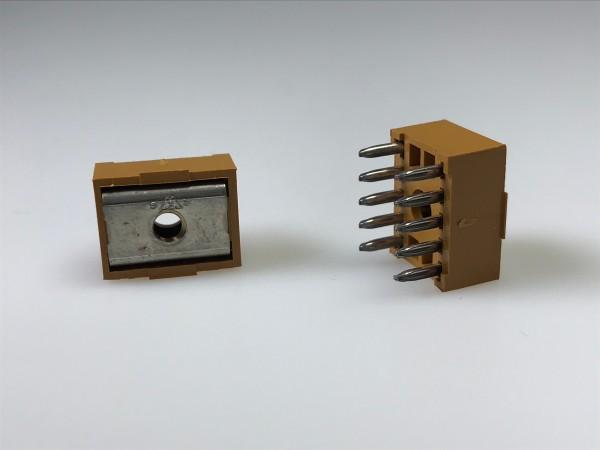 Stromzuführung m.Isolierkörper, 10-polig