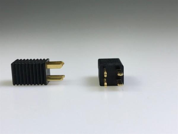 Prüfstecker, 4-polig, schwarz, nach DIN 41616
