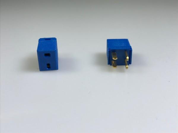 Stecker, SMT, gerade, 4-polig, blau