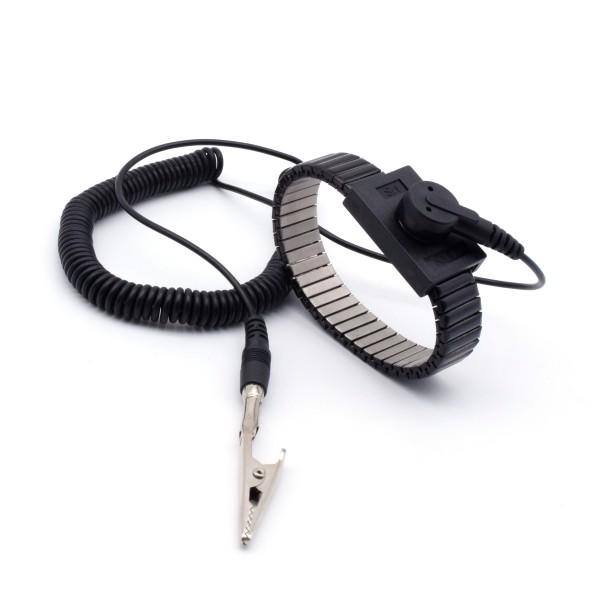 ESD Schutz Metallketten-Armband 10 mm + 3m Kabel