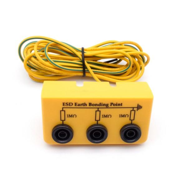 ESD Erdungsbox ABS 3xBananenbuchse 3m Kabel 4mmRin