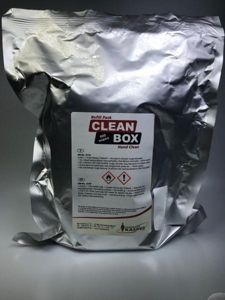HAND CLEANER; Nachfüllbeutel 100 Tücher