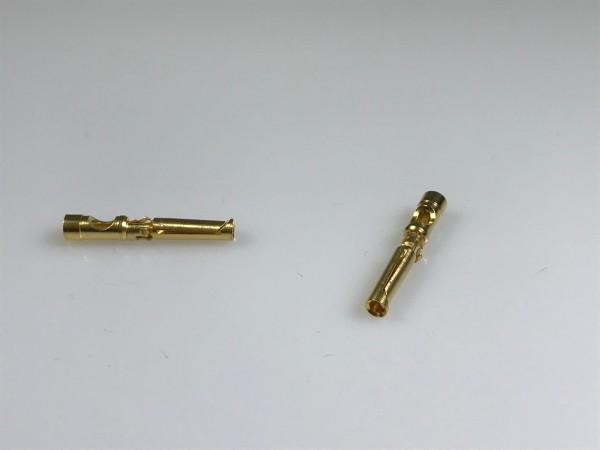 Crimp-Buchsenkontakt, Lötanschluss, AWG 16-20