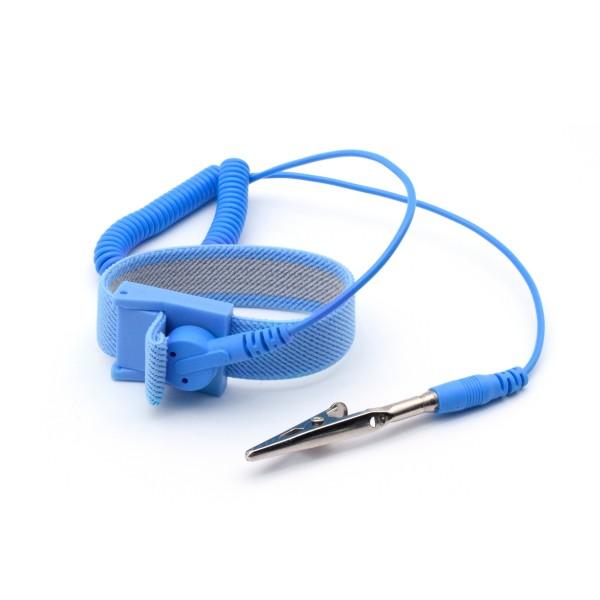 ESD Schutz Armband Komplettset Spiralkabel/Stecker