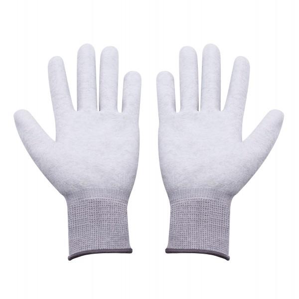 ESD Handschuhe Größe L beschichtete Innenfläche