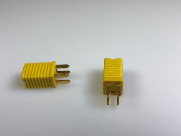 Prüfstecker, 4-polig, gelb