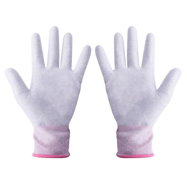 ESD Handschuhe Größe XS beschichtete Innenfläche