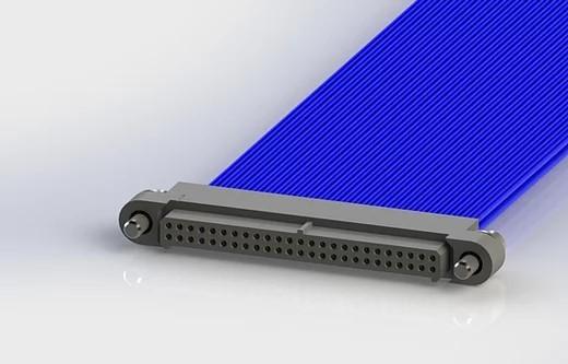 AMM Buchsenleiste vorverkabelt gerade 50-polig