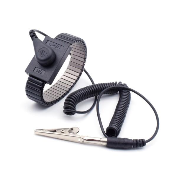 ESD Schutz Metallketten-Armband 4mm + 1,8m Kabel