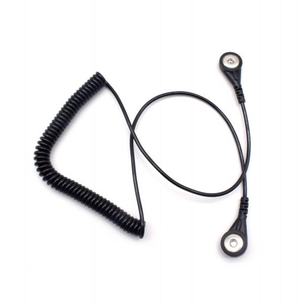 ESD Spiralkabel 1,8m 2 x4mm Druckknopf